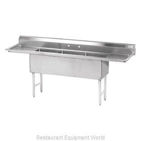 Advance Tabco FS-3-2424-24RL Sink, (3) Three Compartment