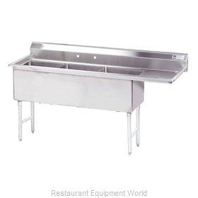 Advance Tabco FS-3-2430-24R Sink, (3) Three Compartment