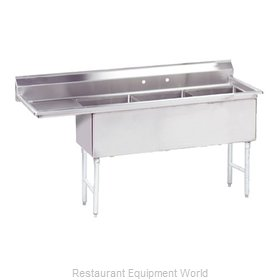 Advance Tabco FS-3-2430-30L Sink, (3) Three Compartment