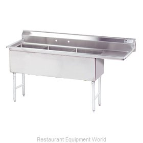 Advance Tabco FS-3-2430-36R Sink, (3) Three Compartment