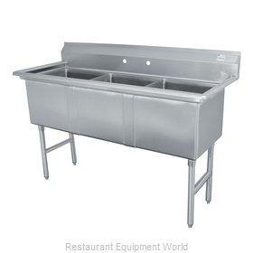 Advance Tabco FS-3-2430 Sink, (3) Three Compartment