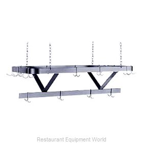 Advance Tabco GC-84 Ceiling Hung Galvanized Pot Rack 84 Long