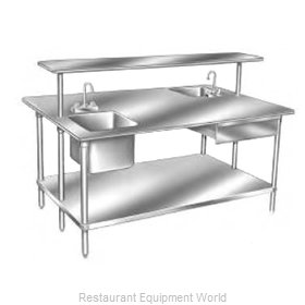 Advance Tabco GLG-485 Work Table 60 Long Stainless steel Top