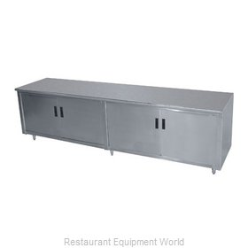 Advance Tabco HB-SS-2410M Work Table, Cabinet Base Hinged Doors