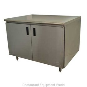 Advance Tabco HB-SS-244M Work Table, Cabinet Base Hinged Doors