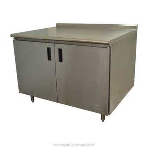 Advance Tabco HF-SS-305 Work Table Cabinet Base Hinged Doors (Magnified)