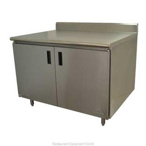 Advance Tabco HK-SS-249M Work Table, Cabinet Base Hinged Doors
