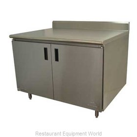 Advance Tabco HK-SS-304 Work Table, Cabinet Base Hinged Doors