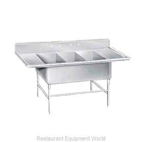 Advance Tabco K7-3-2030-24RL Sink 3 Three Compartment