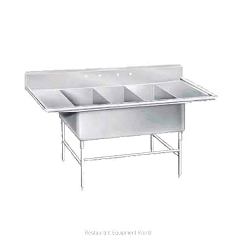 Advance Tabco K7-3-2430-24RL Sink, (3) Three Compartment