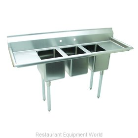 Advance Tabco K7-CS-21-EC-X Sink, (3) Three Compartment