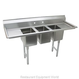 Advance Tabco K7-CS-21 Sink, (3) Three Compartment
