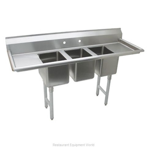 Advance Tabco K7-CS-22-X Sink, (3) Three Compartment