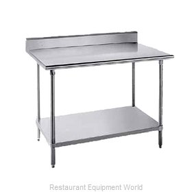 Advance Tabco KMG-369 Work Table 108 Long Stainless steel Top