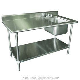 Advance Tabco KMS-11B-305R-X Work Table, with Prep Sink(s)
