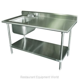Advance Tabco KMS-11B-306L Work Table, with Prep Sink(s)