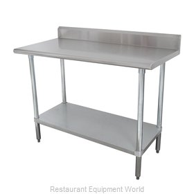 Advance Tabco KMSLAG-306-X Work Table 72 Long Stainless steel Top