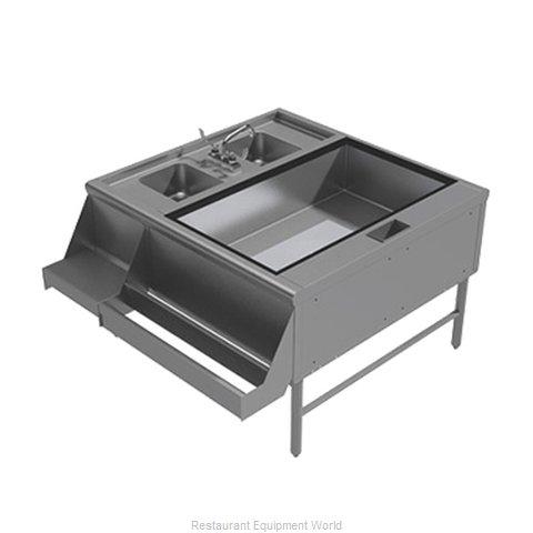 Advance Tabco PR-42X30-10-R Underbar Ice Bin/Cocktail Station, Pass-Thru Combo