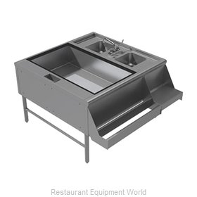 Advance Tabco PR-42X42-10-L Underbar Ice Bin/Cocktail Station, Pass-Thru Combo