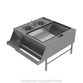 Advance Tabco PR-42X42-10-R Underbar Ice Bin/Cocktail Station, Pass-Thru Combo