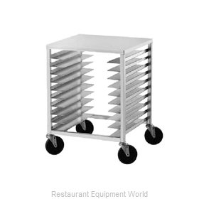 Advance Tabco PR10-3PT Prep Cart Pan Rack w Work Top