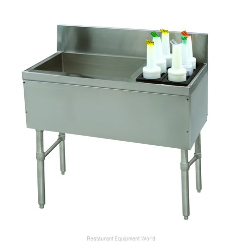 Advance Tabco PRC-19-36L Underbar Ice Bin/Cocktail Station, Bottle Well Bin (Magnified)