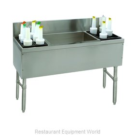 Advance Tabco PRC-19-48LR-10 Underbar Ice Bin/Cocktail Station, Bottle Well Bin