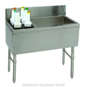 Advance Tabco PRC-19-48R-10 Underbar Ice Bin/Cocktail Station, Bottle Well Bin