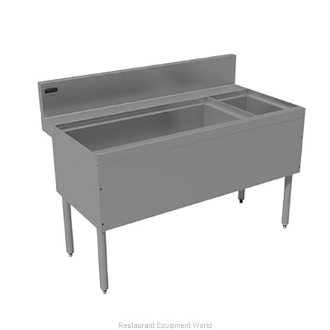 Advance Tabco PRC-24-36L-10 Underbar Ice Bin/Cocktail Station, Bottle Well Bin (Magnified)
