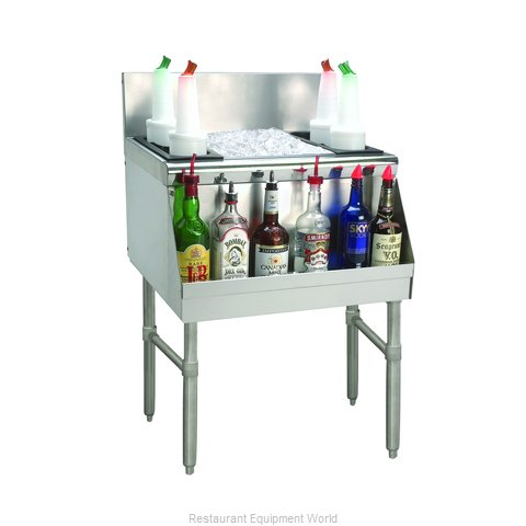 Advance Tabco PRI-24-24-10-XD Underbar Ice Bin/Cocktail Unit