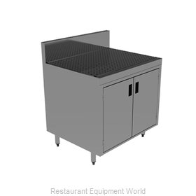 Advance Tabco PRSCD-19-24-M Underbar Workboard, Storage Cabinet