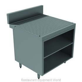 Advance Tabco PRSCO-24-36-M Underbar Workboard, Storage Cabinet