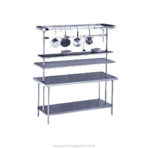 Advance Tabco PT-12-84 Overshelf Table Mounted (Magnified)