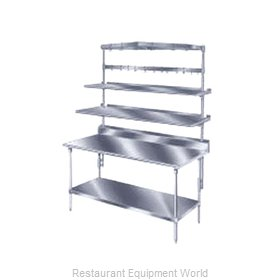 Advance Tabco PT-18S-144 Overshelf, Table-Mounted