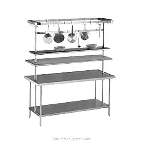 Advance Tabco SCT-84 Pot Rack Table Mounted (Magnified)