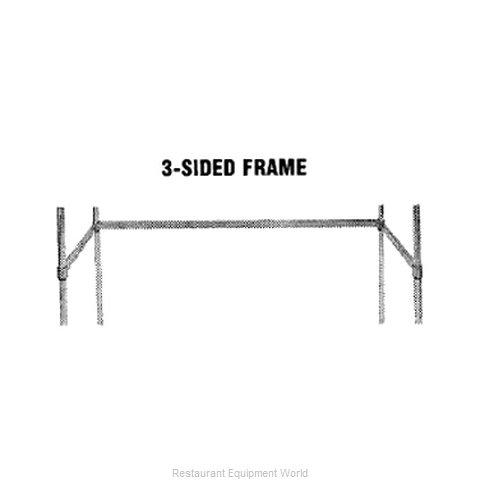 Advance Tabco SF-2424 Shelving Frame (Magnified)