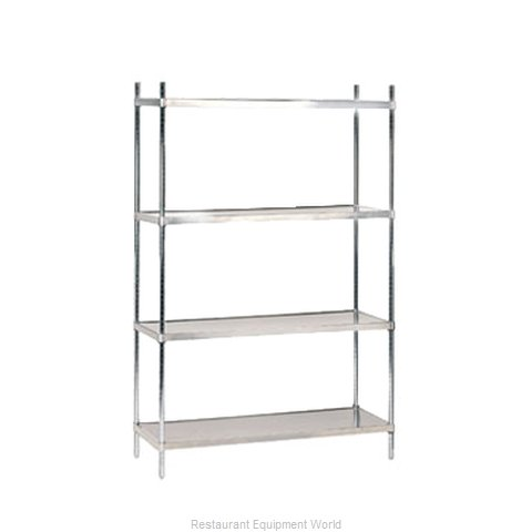 Advance Tabco SHC-2436 Shelving Unit Solid Flat (Magnified)