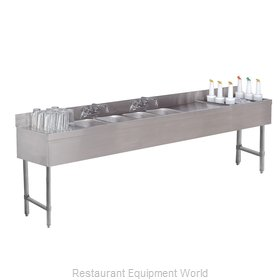 Advance Tabco SLC-83C-R Underbar Ice Bin/Cocktail Station, Sink Combo