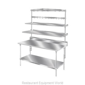 Advance Tabco SWTB-84 Pot Rack Table Mounted