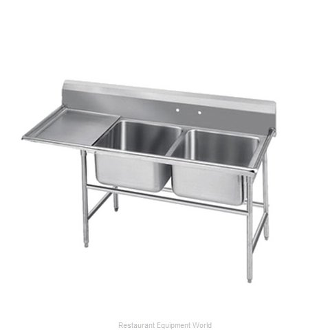 Advance Tabco T9-2-36-18L-X Sink 2 Two Compartment