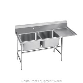 Advance Tabco T9-2-36-18R-X Sink 2 Two Compartment
