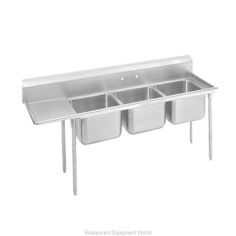 Advance Tabco T9-23-60-18L-X Sink 3 Three Compartment (Magnified)