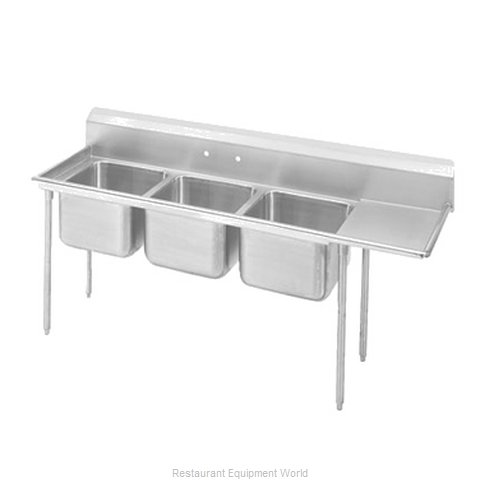 Advance Tabco T9-23-60-18R-X Sink 3 Three Compartment