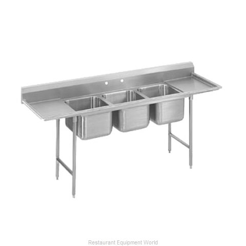 Advance Tabco T9-3-54-24RL-X Sink 3 Three Compartment