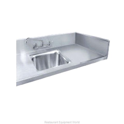 Advance Tabco TA-11Z-10 5-Inch Table Splash with 2-Inch Return