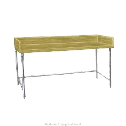 Advance Tabco TBG-308 Work Table, Bakers Top
