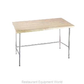 Advance Tabco TH2G-248 Wood Top Bakers Table - Open Base Style