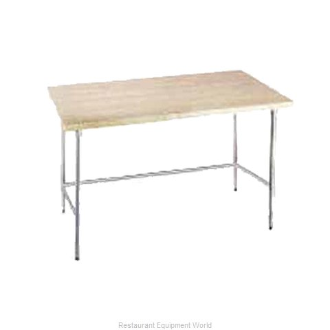 Advance Tabco TH2G-307 Wood Top Bakers Table - Open Base Style