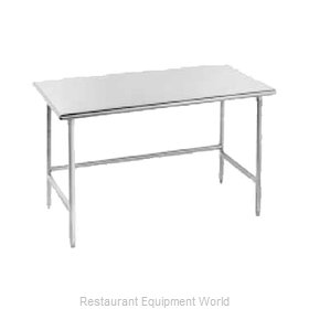 Advance Tabco TMS-368 Work Table 96 Long Stainless steel Top