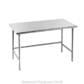 Advance Tabco TSAG-308 Flat Top, Open Base Worktable
